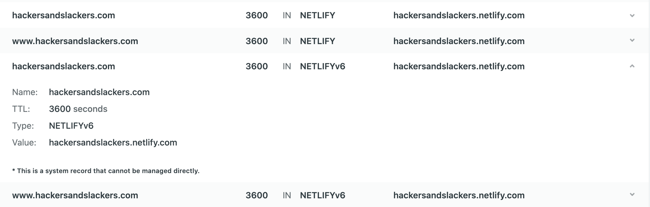 Creating DNS records